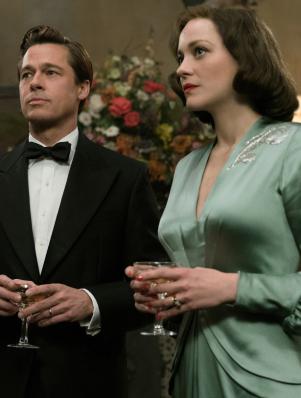 Brad Pitt and Marion Cotillard Find Love During WWII in movie Allied