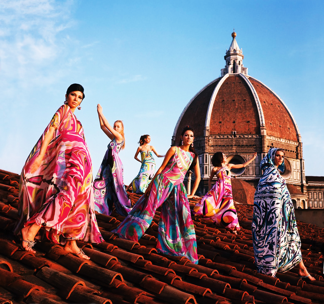 Emilio-Pucci-Models-Roof-Palazzo-Pucci-Spring-1967